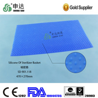With CE FDA & ISO 13485 Silicone cushion mats for sterilization trays