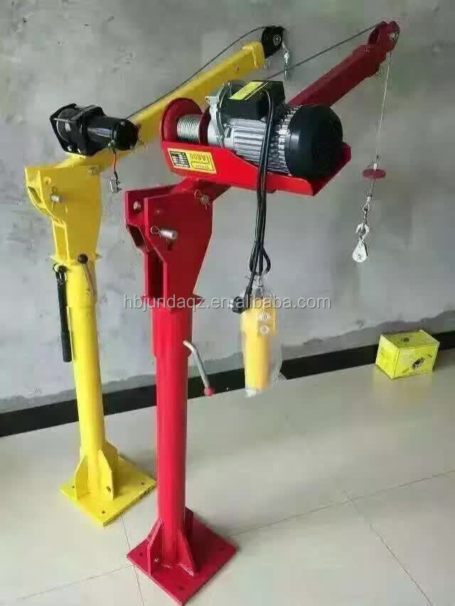 500kg manual electric hydraulic mini crane truck mounted crane for outdoors