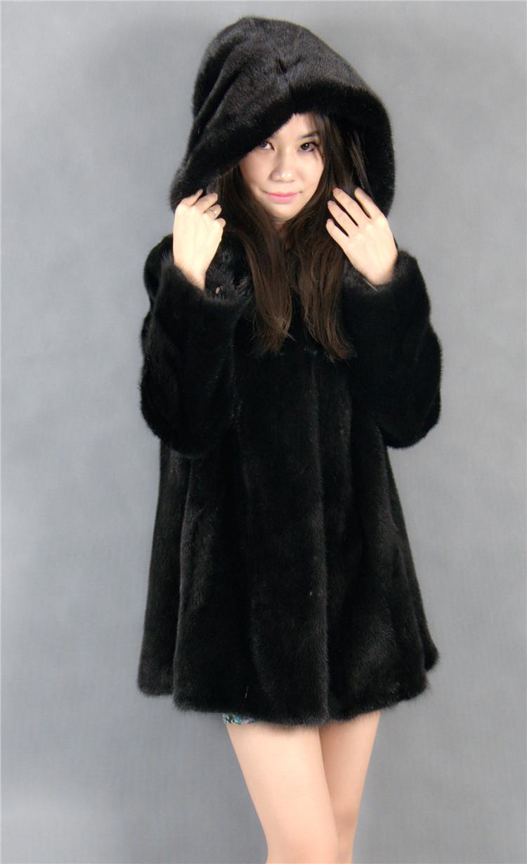 2015 font b winter b font woman fashion real mink fur xl long real mink coat