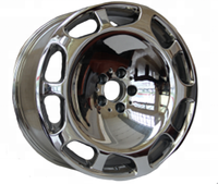 chrome or silver new car wheels 20 inch 5 holes rims with alloy