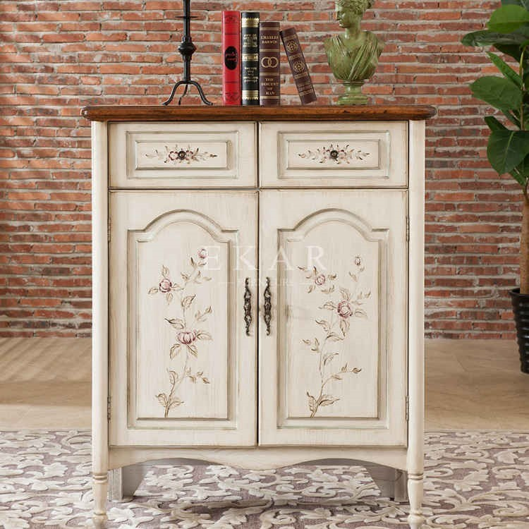 guangdong shoes cabinet white antique style shabby chic furniture shoes rack