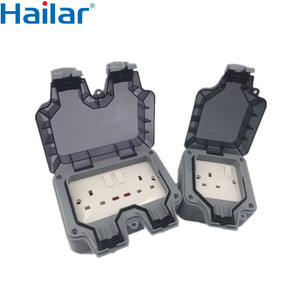 Hailar UK Weatherproof socket IP66, outdoor waterproof switch sockets,waterproof sockets