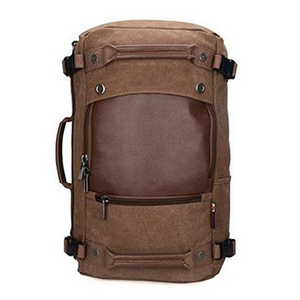 Men's Vintage Canvas Duffel Shoulder Backpack Tote Travel Luggage Bag