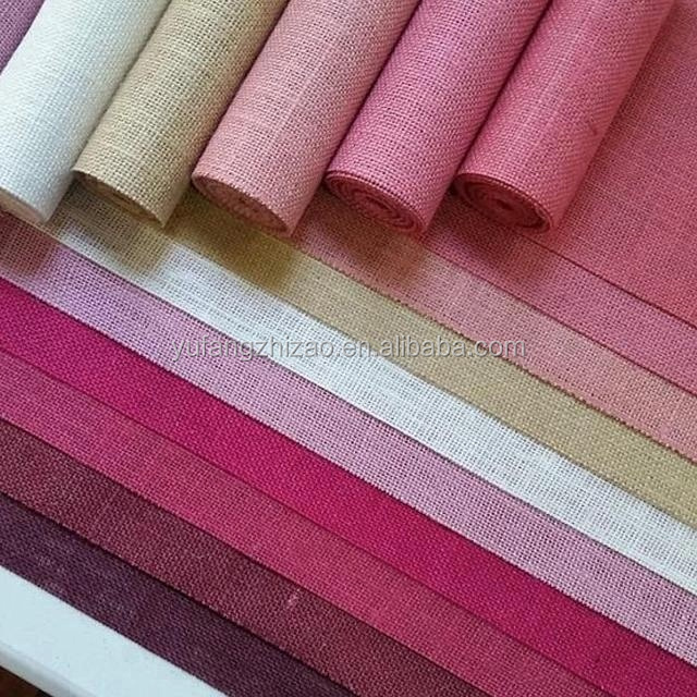 Manufacturer Wholesale Jute Burlap Hessian Cloth Various Colors Table Runner For Table Decoration