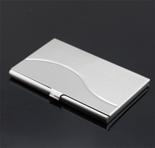 Custom logo good quality stainless steel name card box holder