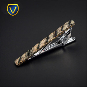 Wholesale cool wooden mens tie bar clips