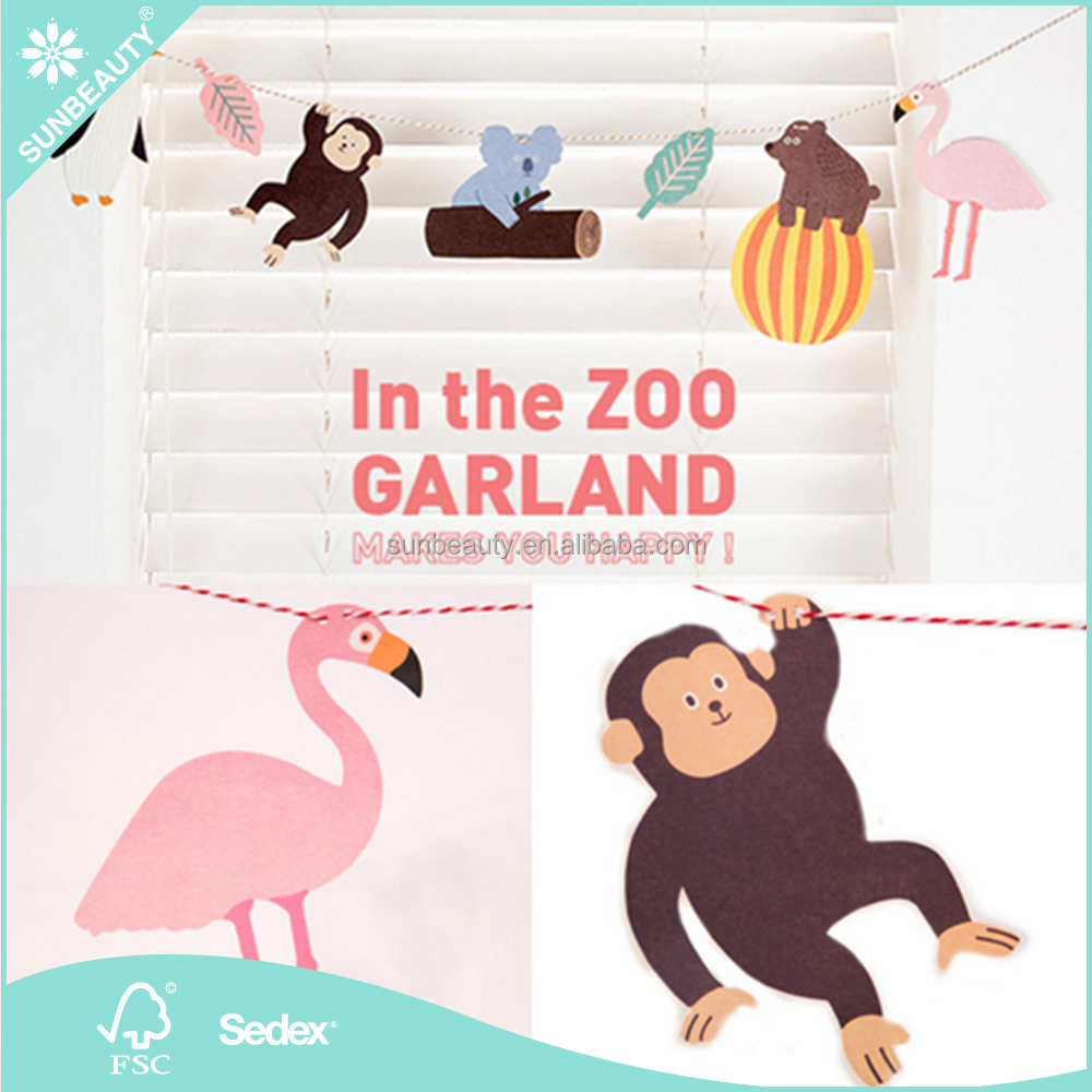 Wholesale Animal String In the Zoo Garland Kids Birthday Party Supplies Baby Shower