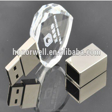 Novelty new style crystal heart usb pen drive
