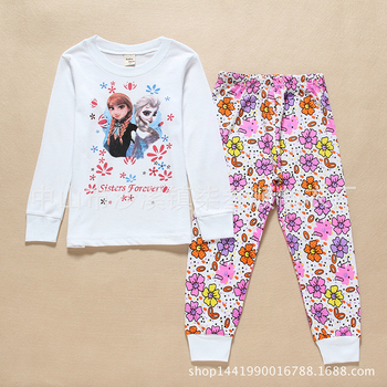 c037 2017 Wholesale Children Clothing/long Sleeve Garment/Sweet Child Clothing Suits