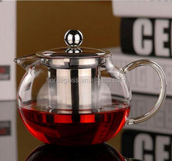 2018 New Product Borosilicate Hand Blown Tea Pot Sets Glass Teapot Pyrex Glass Teapot With Infuser