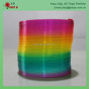 Gold green color slinky spring toy kids toy