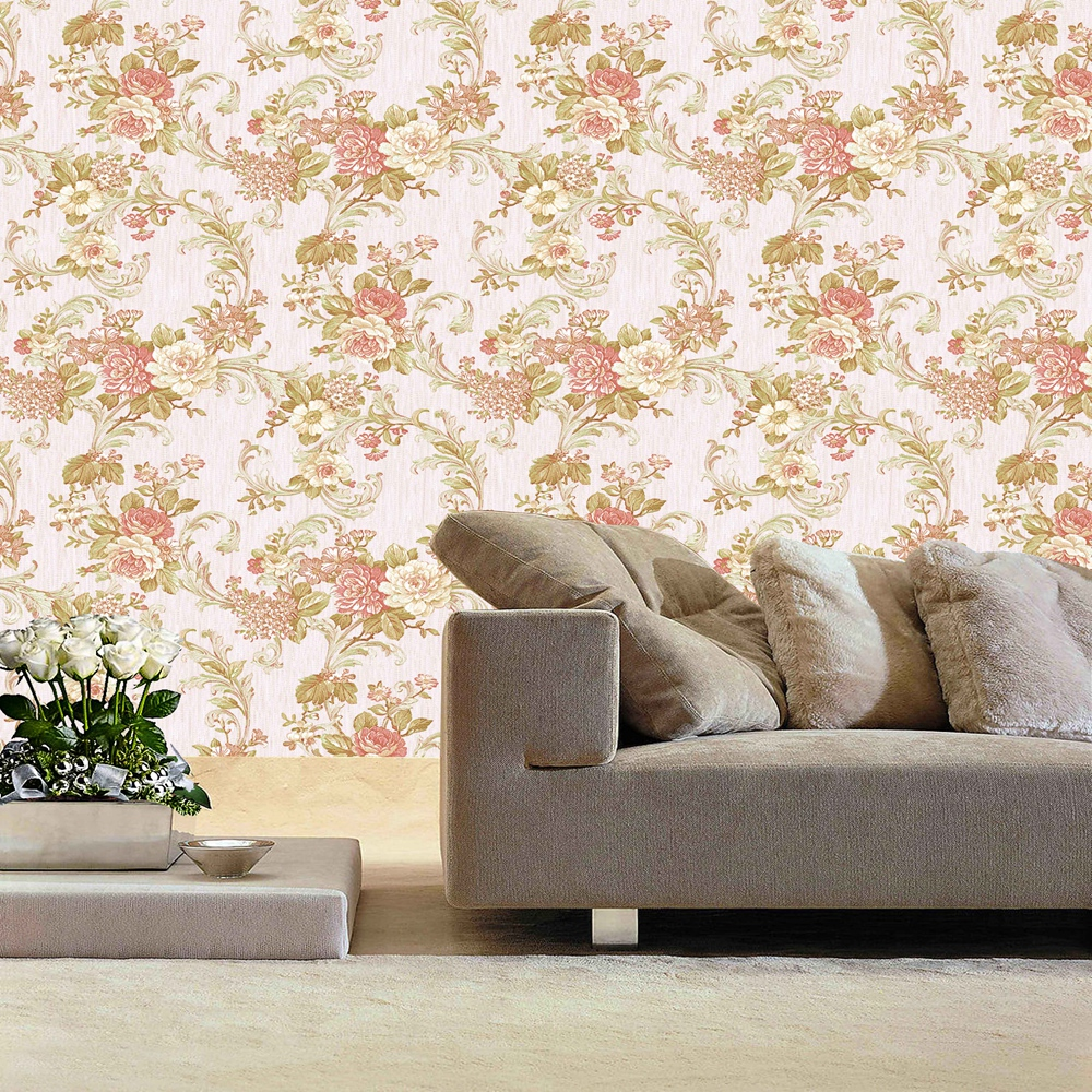 Manufacturer Colorful European pvc printable wallpaper material