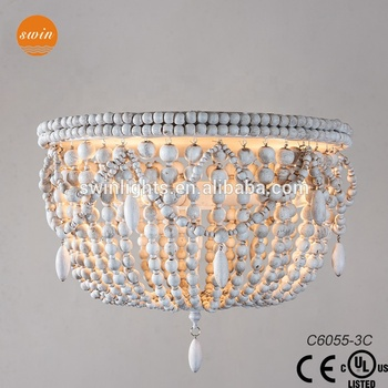 Home Decorative Rh Wood Beads Flush Mount Ceiling Light Lamp C6055 3c Buy Home Decorative Ceiling Lamp Decorative Flush Mount Ceiling Lamp Wood