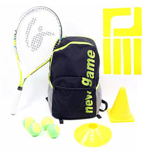 Kids tennis bag with tennis racket and training kits ,court marker line for aged over 8 quick start training tennis set