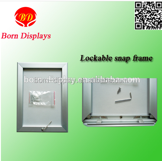 High Quality Strong 32MM Aluminum Anodized Frame A1 A2 A3 A4 Size Display Sliver Mitred Corner Lock Frame Picture