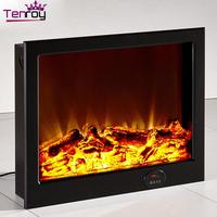 Simulated flame fireplace remote control 2 sided electric fireplace gas fireplace burner for wholesales