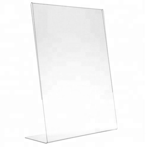 "Acrylic 8.5"" X 11"" Single Slant Back Design Clear Table Sign Display Holder"