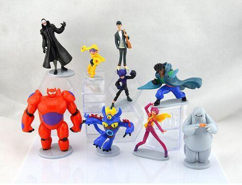 factory Supply) 9pcs 2017 Wholesale Big Hero 6 Pvc Mini Figure Toy ...