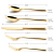 High Life Quality Knife Fork Spoon Gold Stainless Steel Flatware Set