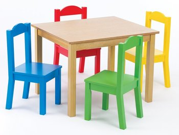 Kindergarten Solid Wood Kids Study Playing Table Chair Childrens