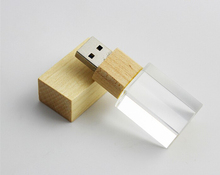 Wedding Gift Wooden Crystal USB Memory Stick 2.0