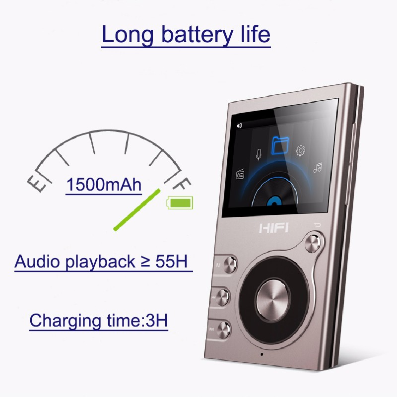 IQQ 8GB 55 hours playback 2017 RK chipset hifi player