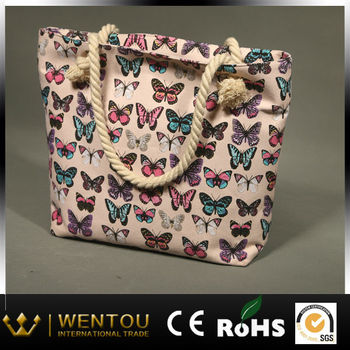 Wholesale Butterfly Beach Bag With Rope - Buy Butterfly Beach Bag ...