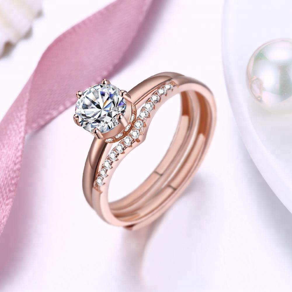 China 14k rose gold diamond ring wholesale 🇨🇳 - Alibaba