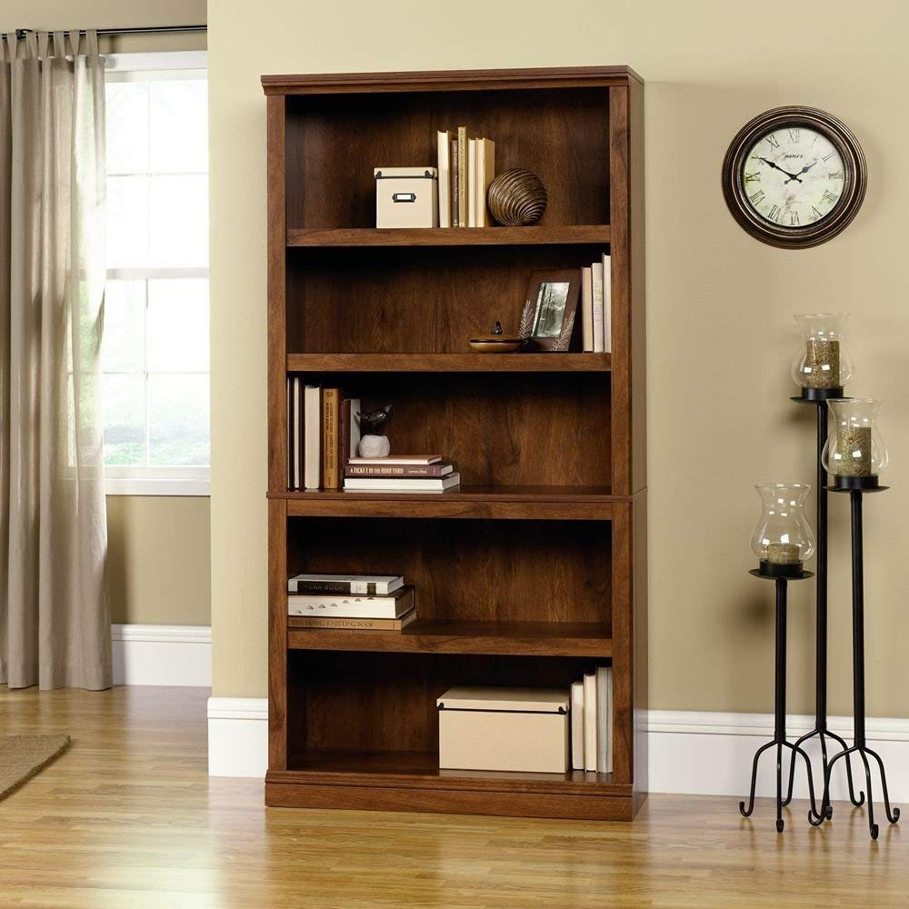 Trustpurchase 5-Shelf Bookcase in Oiled Oak Finish, Customizable Shelves Allow You to Tailor The 5-Shelf Bookcase to The Needs of Your Home Office or Living Area, A Great Addition to Your Home