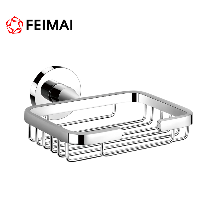 Contemporary Br Chrome Shower Soap Basket Wire Dish Holders Wall Mounted Holder Rack Hanger Product On Alibaba