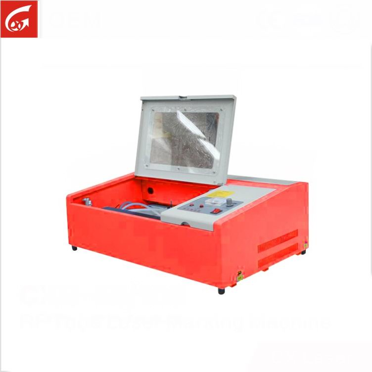 Portable mini laser engraving cutting machine to make rubber stamps