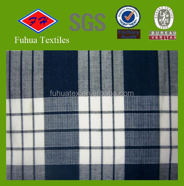 100 Cotton Plaid Yarn Dyed Flannel Fabric