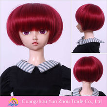 factory any size is avaliable and high quality synthetic red doll wigs
