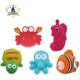 Custom vinyl rubber cute fish wholesale bath toy for baby