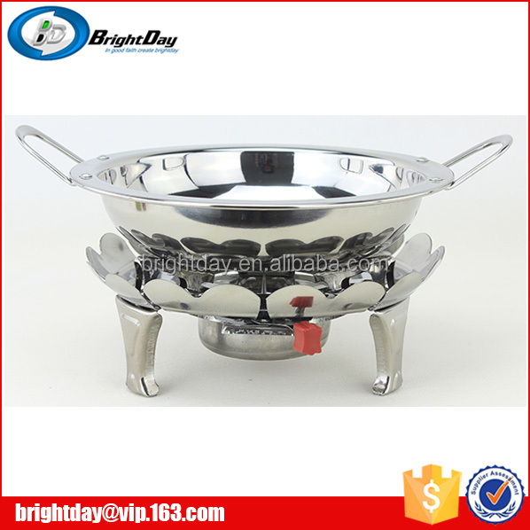 En acier inoxydable chafing dish petit r chaud alcool for Fourniture hotellerie restauration