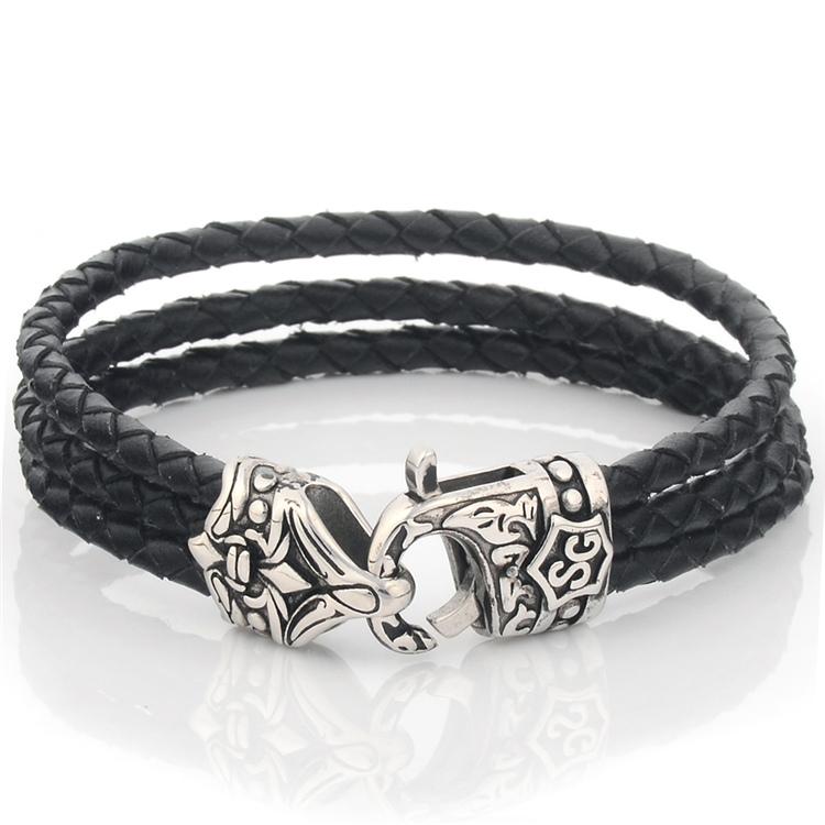 ad8d4dfd790e Venta al por mayor pulseras personalizadas de cuero baratas-Compre ...