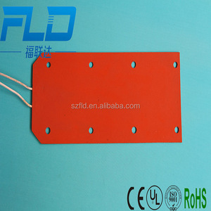12v 24v 48v silicone rubber ceramic pad heater with CE UL ROHS certificate