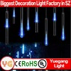 Factory Wholesale Blue 30cm 50cm SMD/Hollow outdoor led christmas meteor shower light IP65 led meteor shower rain tube lights