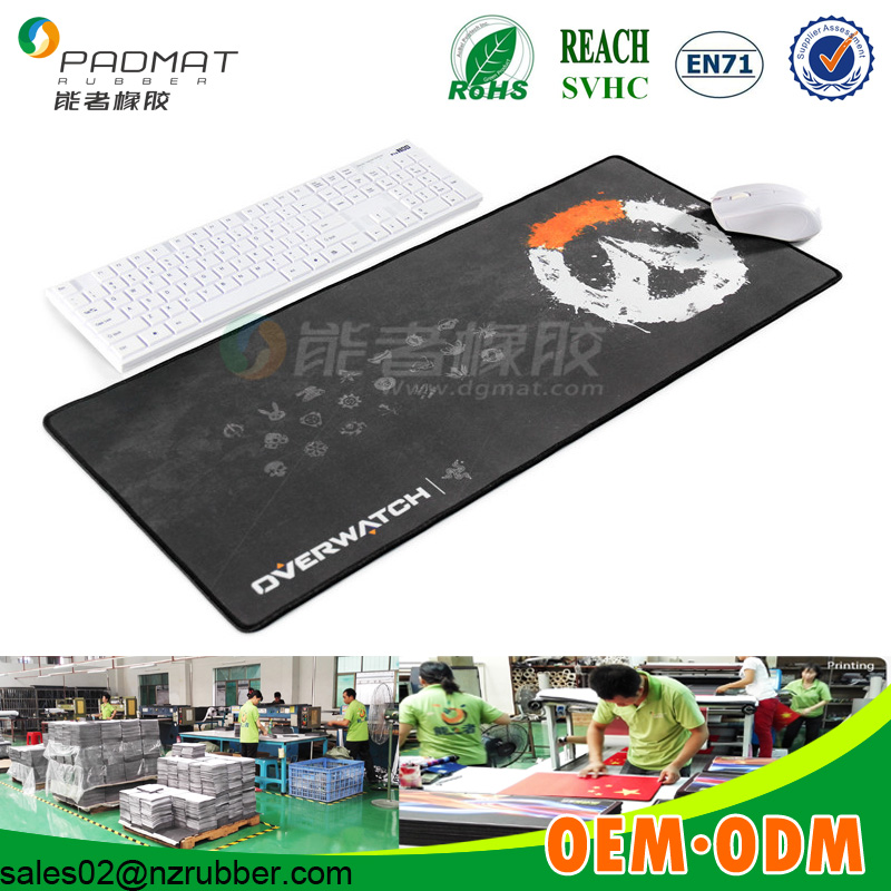 Big custom printed gaming Rubber Mouse Pad with stitching edge/custom mouse pad, xxl mouse pads oem