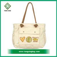 Custom promotional cheap cotton tote bag canvas cross body bags made in China with factory price