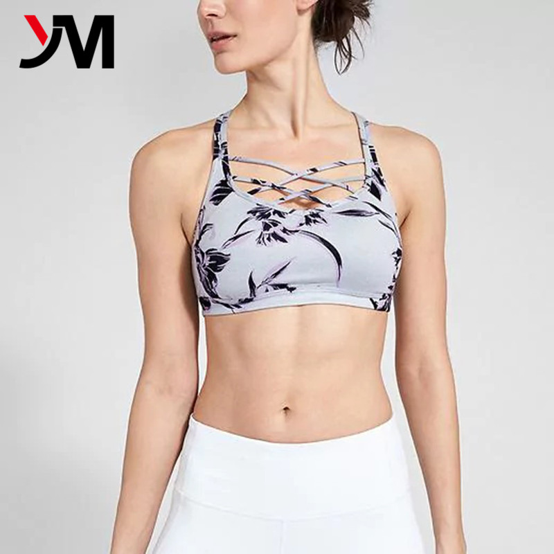 OEM Design Dri Fit Private Label Custom Fitness Wear Workout Sports Bra, Gym Yoga Women Sports Bra