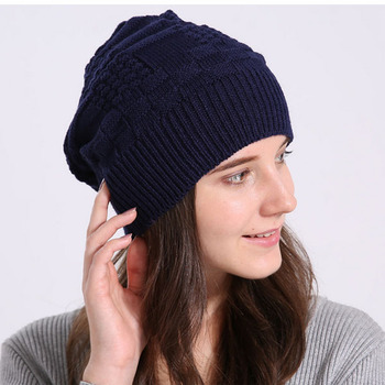 2018 trending products double decked womans winter hats knitting hemp beanie  hat winter 918744647f8