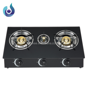 Cheap India Model Tempered glass gas stove 3 burner