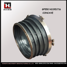 GP550 cone crusher spare parts mantle and concave