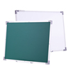 90*150 cm Standard Size Cheap Price Classroom Double Side Magnetic White Green Chalk Board In Aluminum Frame