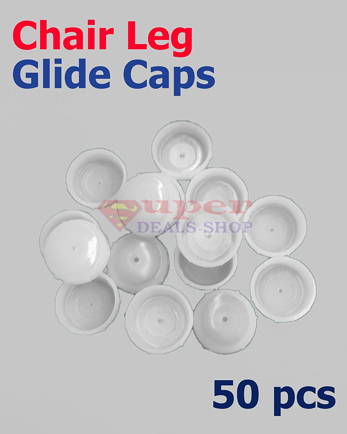 16 Plastic White Wrought Iron Patio Chair Leg Inserts Cups 1.5 Glide Caps 1 1//2