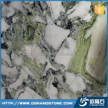 Cold Jade Ice Green Marble Slab White Marble With Green