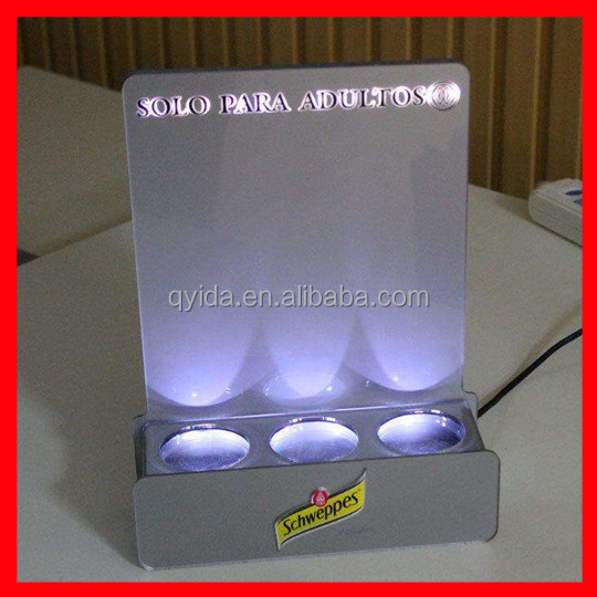 newest acrylic led bottle display stand with SGS certificate