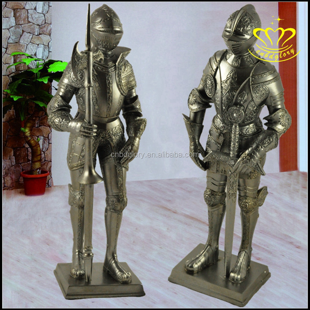Roman Soldier with Javelin and Shield Cast Bronze Figurine sculpture