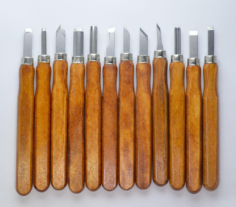KOTVTM Carbon Steel Wood Carving Tools Professional Wood Carving Knife Kit - Wood Carving Chisels 12 PCS set
